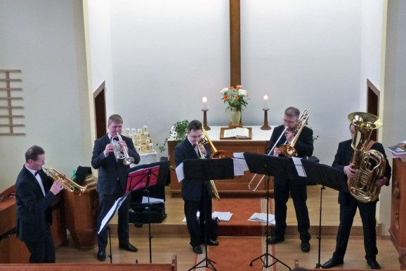 Bläsergottesdienst in der Christuskirche Drebach